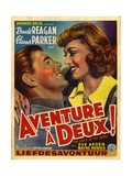 France Adventure for Two, Voice Of The Turtle Film Poster, 1940s Giclée-tryk