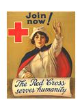 1910s USA The Red Cross Poster - Giclee Baskı
