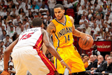 Miami, FL - May 24: D.J. Augustin and Mario Chalmers Photographic Print by Issac Baldizon
