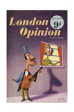 1950s UK London Opinion Magazine Cover Poster