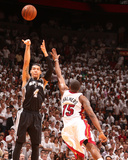 Miami, FL - June 20: Danny Green and Mario Chalmers Photographic Print by Nathaniel S. Butler