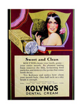 1920s UK Kolynos Magazine Advertisement Giclee Print
