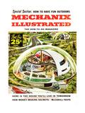 1950s USA Mechanix Illustrated Magazine Cover Prints