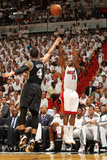 Miami, FL - June 20: Mario Chalmers and Danny Green Photographic Print by Issac Baldizon