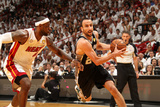 Miami, FL - June 20: Manu Ginobili and LeBron James Photographic Print by Issac Baldizon