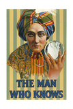 1920s USA The Man Who Knows Poster - Giclee Baskı