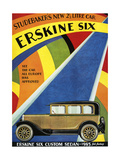 1920s USA Erskine Six Magazine Advertisement Giclee Print