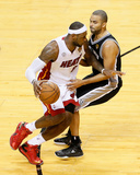 Miami, FL - June 20: LeBron James and Tony Parker Photo