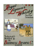 1900s UK Royal Liqueurs Poster Giclee Print