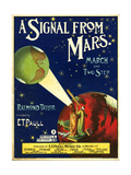 1900s USA A Signal From Mars Sheet Music Cover Giclee Print