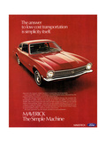 1970s UK Ford Magazine Advertisement Giclée-Druck