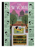 Urban Bliss - The New Yorker Cover, July 1, 2013 Regular Giclee Print by Ivan Brunetti