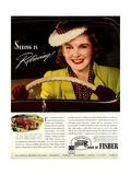 1930s USA Fisher Magazine Advertisement Giclee Print