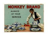 1910s UK Monkey Brand Magazine Advertisement Giclee Print
