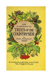1950s UK Trees of the Countryside Book Cover Giclee Print