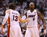Miami, FL - June 20: LeBron James and Mike Miller Photo by Mike Ehrmann