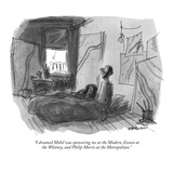 """""""I dreamed Mobil was sponsoring me at the Modern, Exxon at the Whitney, an…"""" - New Yorker Cartoon Premium Giclee Print by James Stevenson"""