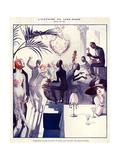 1920s France La Vie Parisienne Magazine Plate Wydruk giclee