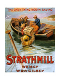1900s UK Strathmill Poster Art