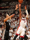 Miami, FL - June 20: Dwyane Wade and Danny Green Photographic Print by Issac Baldizon