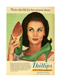 1960s UK Phillips Magazine Advertisement Giclee Print