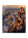 1950s UK Festival of Britain Magazine Plate Print