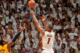 Miami, FL - May 24: Chris Bosh and Ian Mahinmi Photographic Print by Issac Baldizon