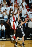 Miami, FL - June 20: LeBron James and Manu Ginobili Photographic Print