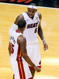 Miami, FL - June 20: LeBron James and Mario Chalmers Photographic Print