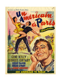 1950s France An American In Paris Film Poster Giclee Print
