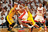 Miami, FL - May 24: LeBron James and D.J. Augustin Photographic Print by Issac Baldizon