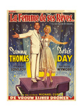 1950s France I'll See You In My Dreams Film Poster Giclee Print