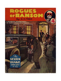 1930s UK Rogues of Ransom Book Cover Giclee Print