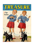 1960s UK Treasure Magazine Cover Giclee Print