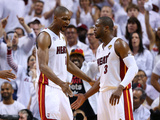 Miami, FL - June 20: Chris Bosh and Dwyane Wade Photographic Print by Mike Ehrmann