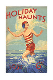 1930s UK Holiday Haunts Book Cover Giclee Print