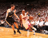 Miami, FL - June 20: Ray Allen and Tiago Splitter Photo by Nathaniel S. Butler
