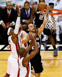 Miami, FL - June 20: Manu Ginobili, LeBron James and Chris Bosh Photographic Print