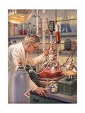1960s USA Scientists Magazine Plate Print