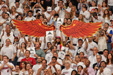 Miami, FL - May 24: Fans hold photos and wings to support Chris Andersen Photographic Print by Issac Baldizon