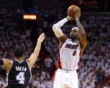 Mike Ehrmann - Miami, FL - June 20: LeBron James and Danny Green - Photo