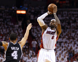Miami, FL - June 20: LeBron James and Danny Green Photo by Mike Ehrmann