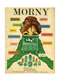 1960s UK Morny Magazine Advertisement Prints