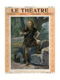 1900s France Le Theatre Magazine Cover Poster