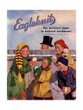 1950s USA Eagleknit Magazine Advertisement Giclee Print