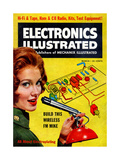 1960s USA Electronics Illustrated Magazine Cover Giclee Print