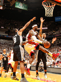 Miami, FL - June 20: LeBron James, Danny Green and Kawhi Leonard Photographic Print by Issac Baldizon