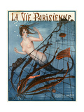 1920s France La Vie Parisienne Magazine Cover Reproduction procédé giclée