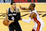 Miami, FL - June 20: Danny Green and Dwyane Wade Photographic Print