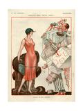 1920s France La Vie Parisienne Magazine Plate Poster